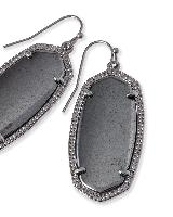 Elle Drop Earrings in Hematite
