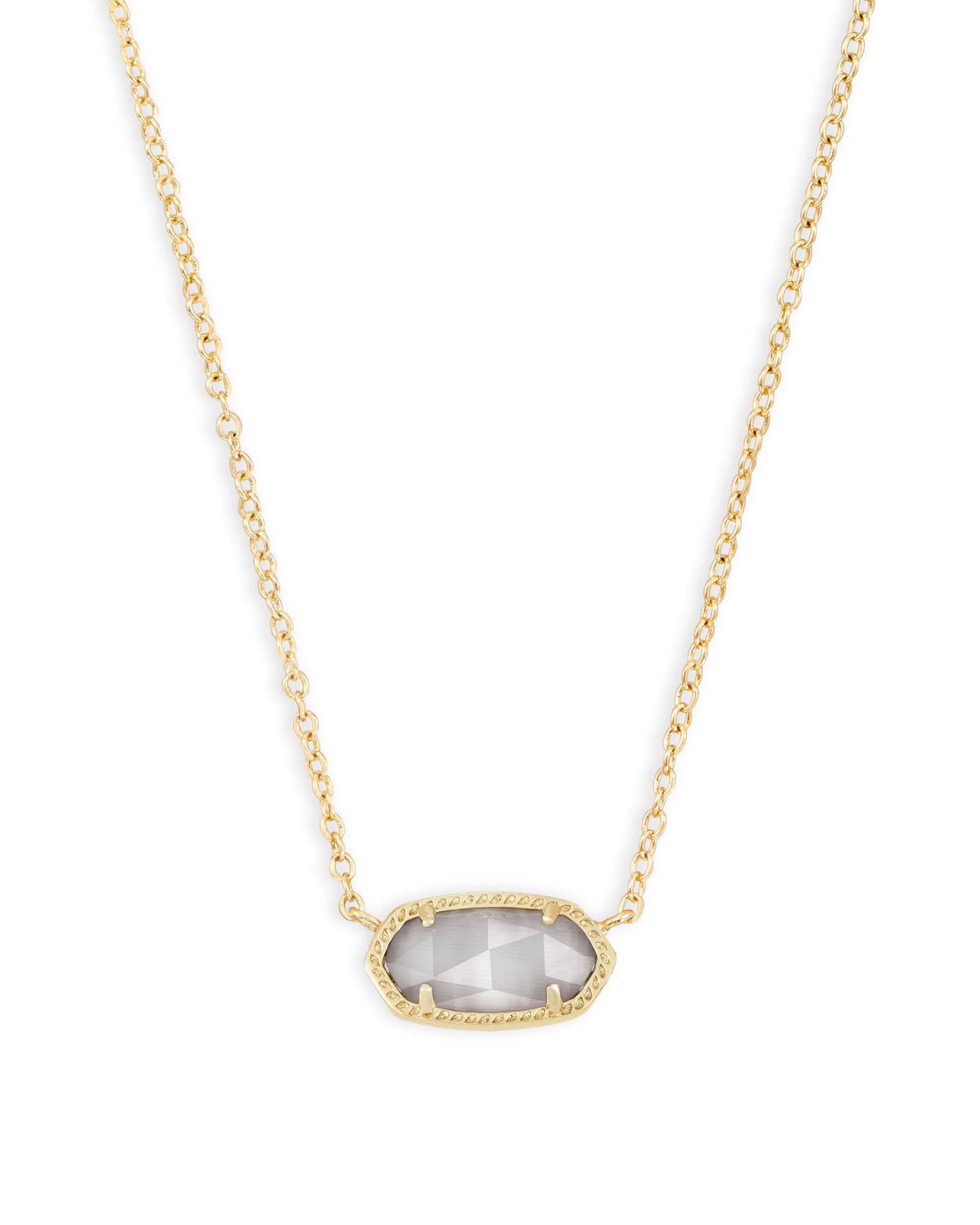 Elisa Gold Pendant Necklace In Slate Gray Kendra Scott