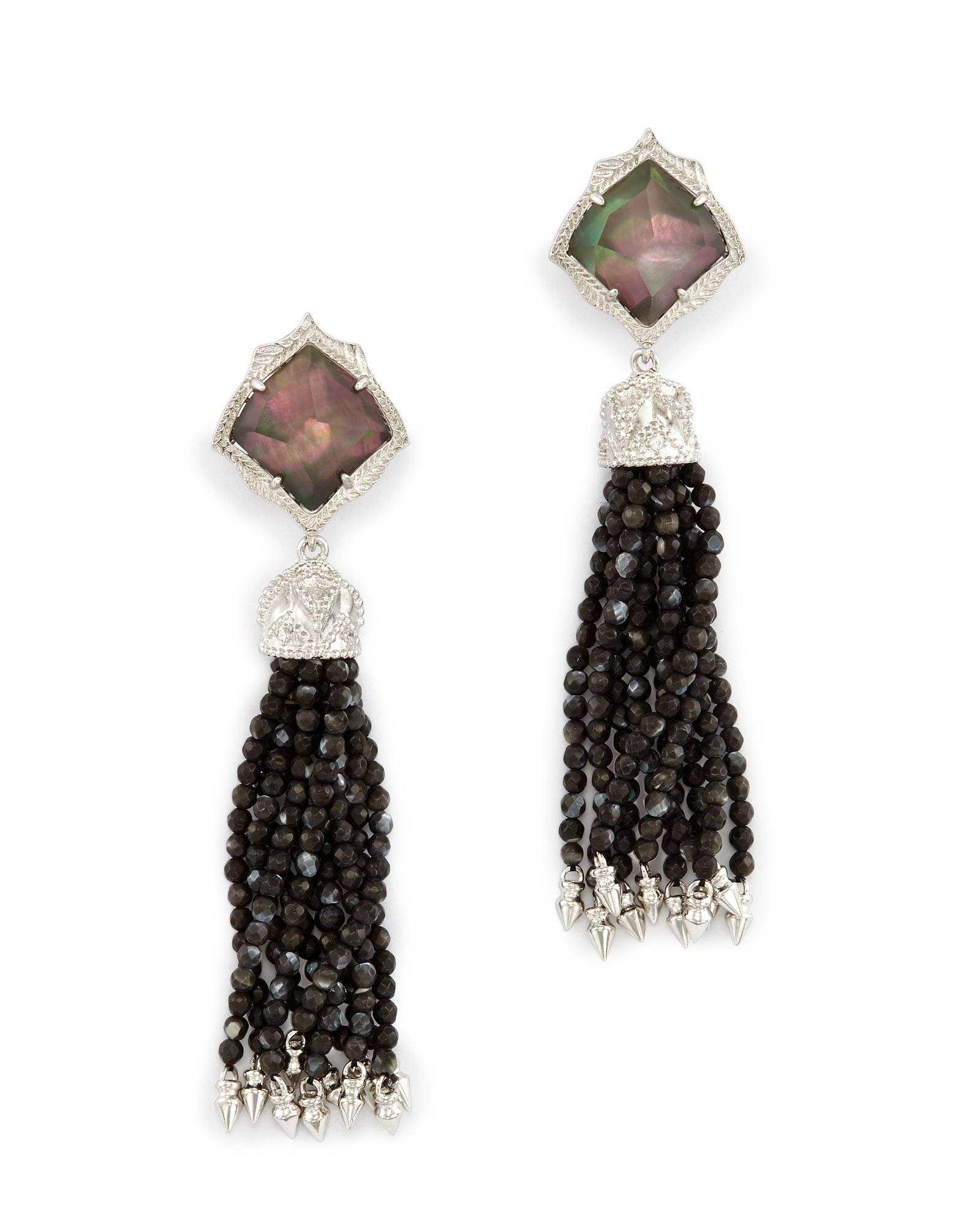 Misha Clip On Earrings In Black Pearl