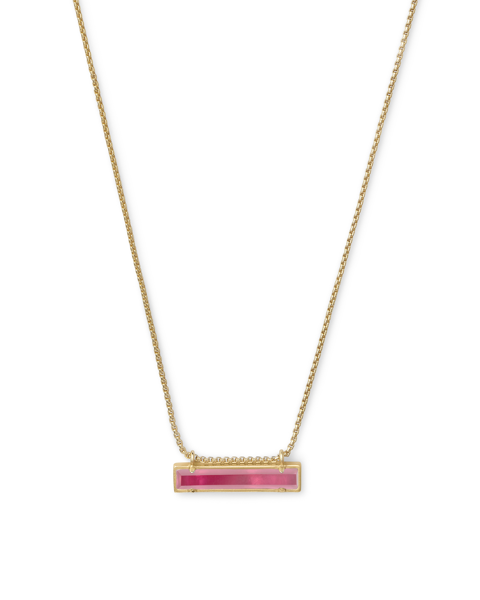 Leanor Gold Pendant Necklace in Berry Illusion