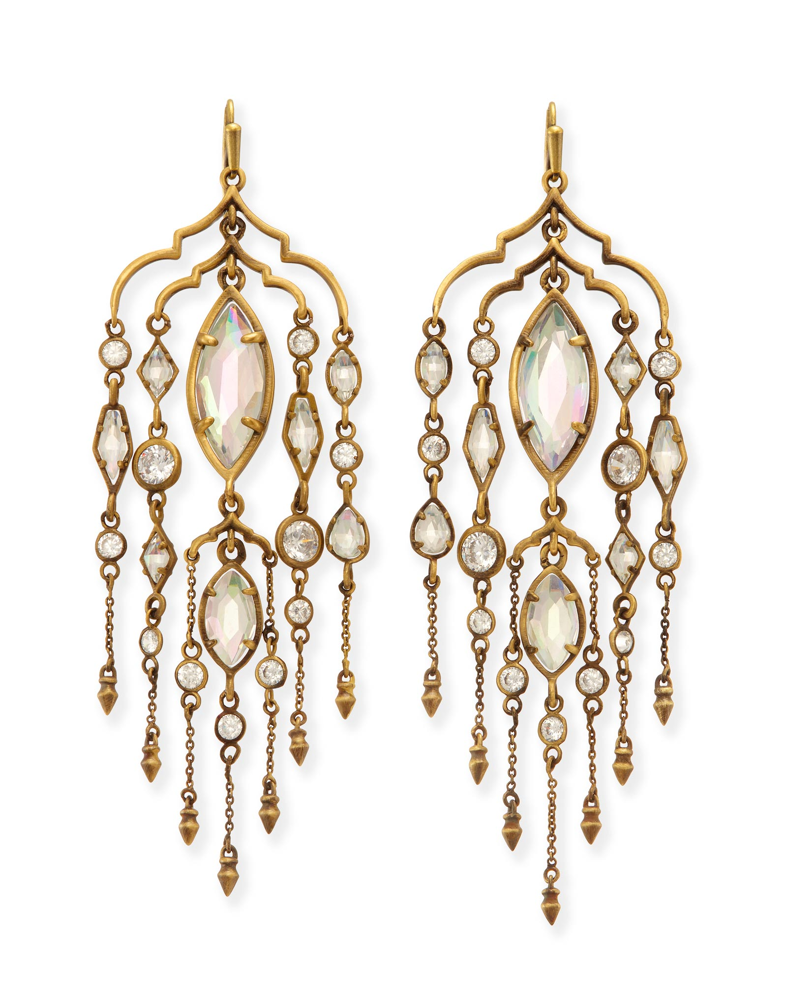 Emma brass chandelier duster earrings kendra scott emma shoulder duster earrings in antique brass arubaitofo Images