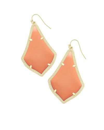 Alexandra Earrings in Coral