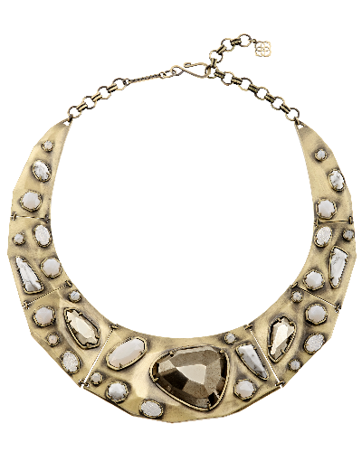 Mira Necklace in Pyrite Mosaic
