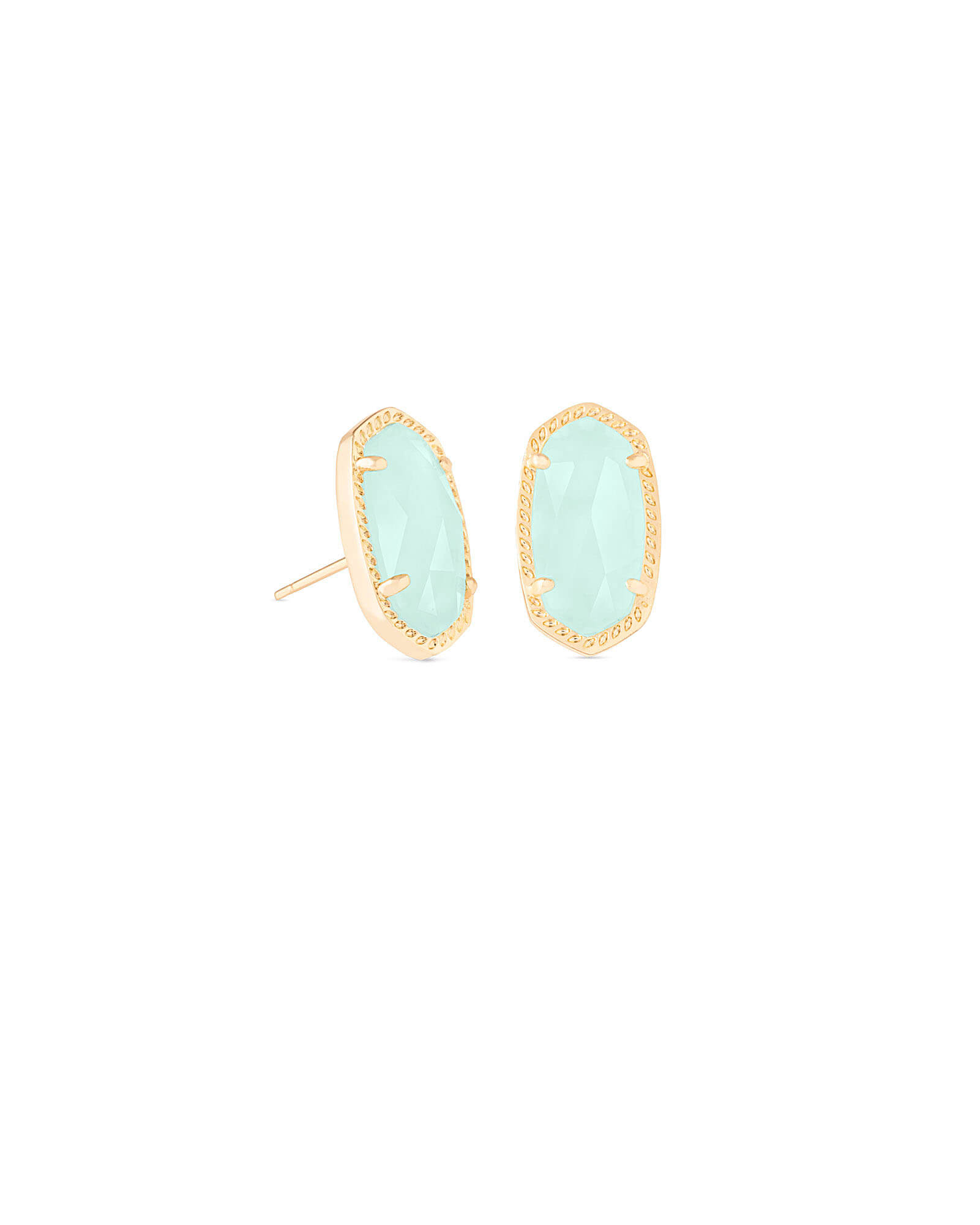 Ellie Stud Earrings in Chalcedony