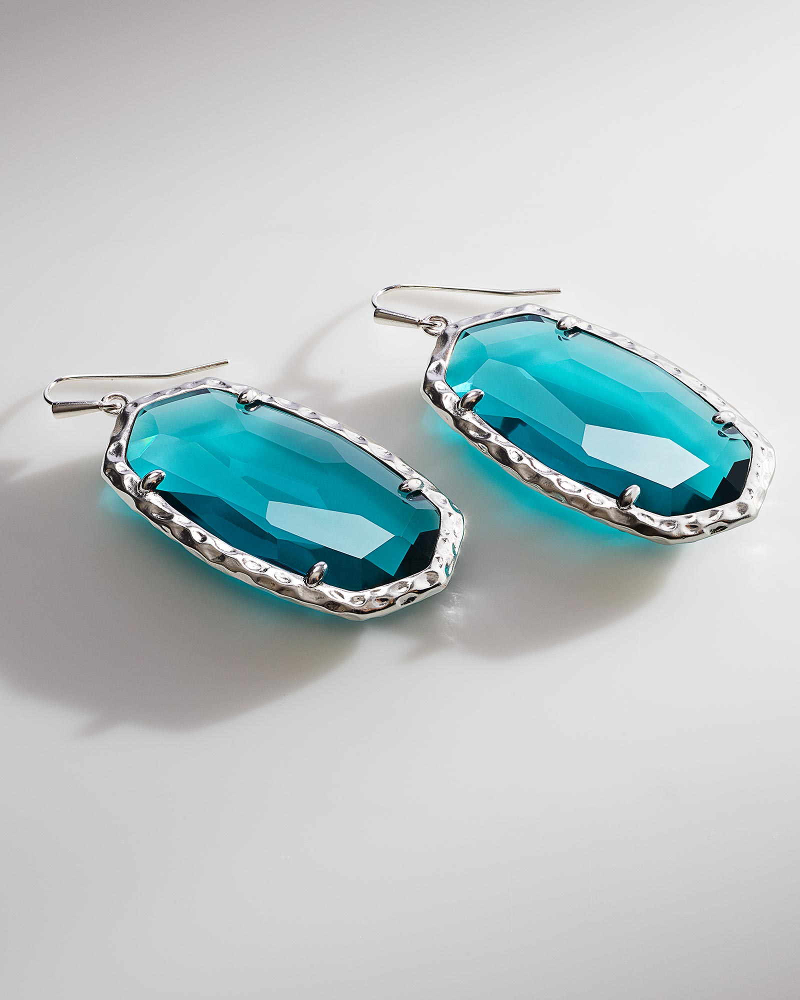 ella silver drop earrings in london blue kendra scott
