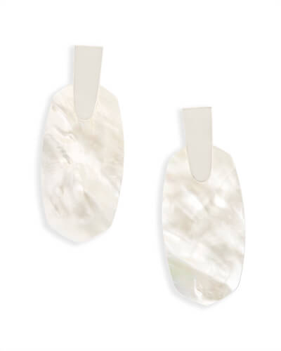 Aragon Statement Earrings in Ivory Pearl
