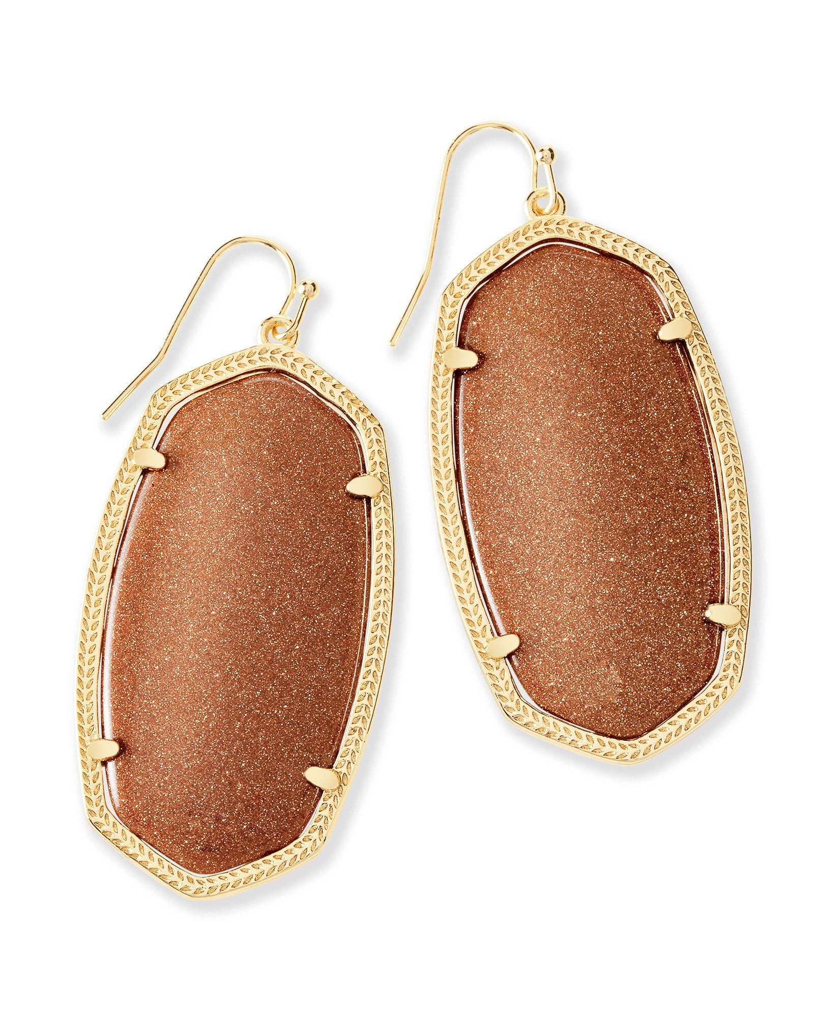 Danielle Earrings in Goldstone