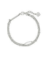 Fern Multi Strand Bracelet in Bright Silver