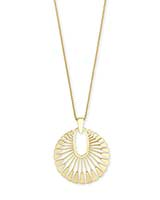 Deanne Long Pendant Necklace in Gold