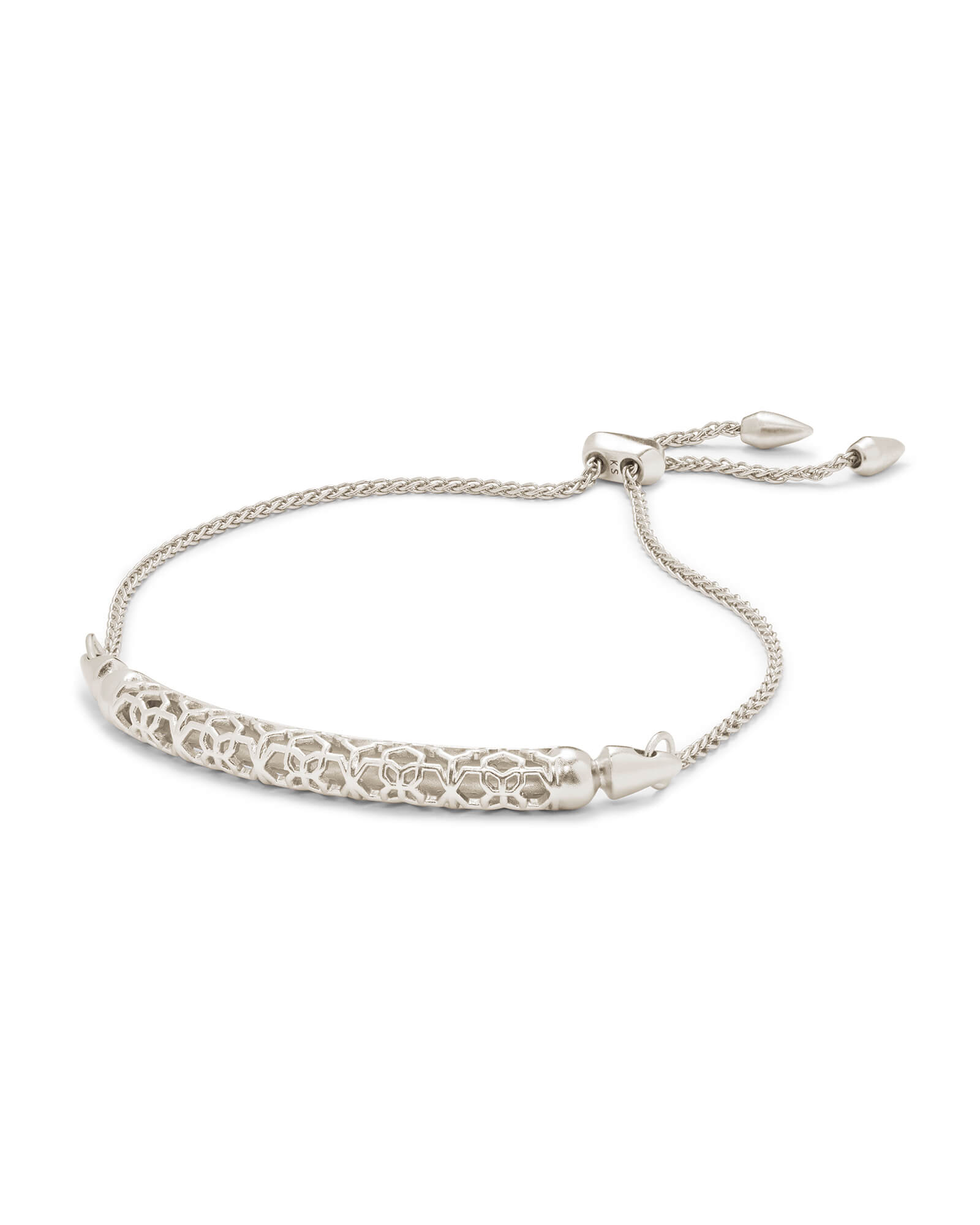 Gilly Silver Link Bracelet in Silver Filigree