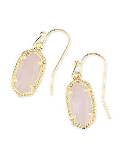 Lee Earrings in Rose Quartz
