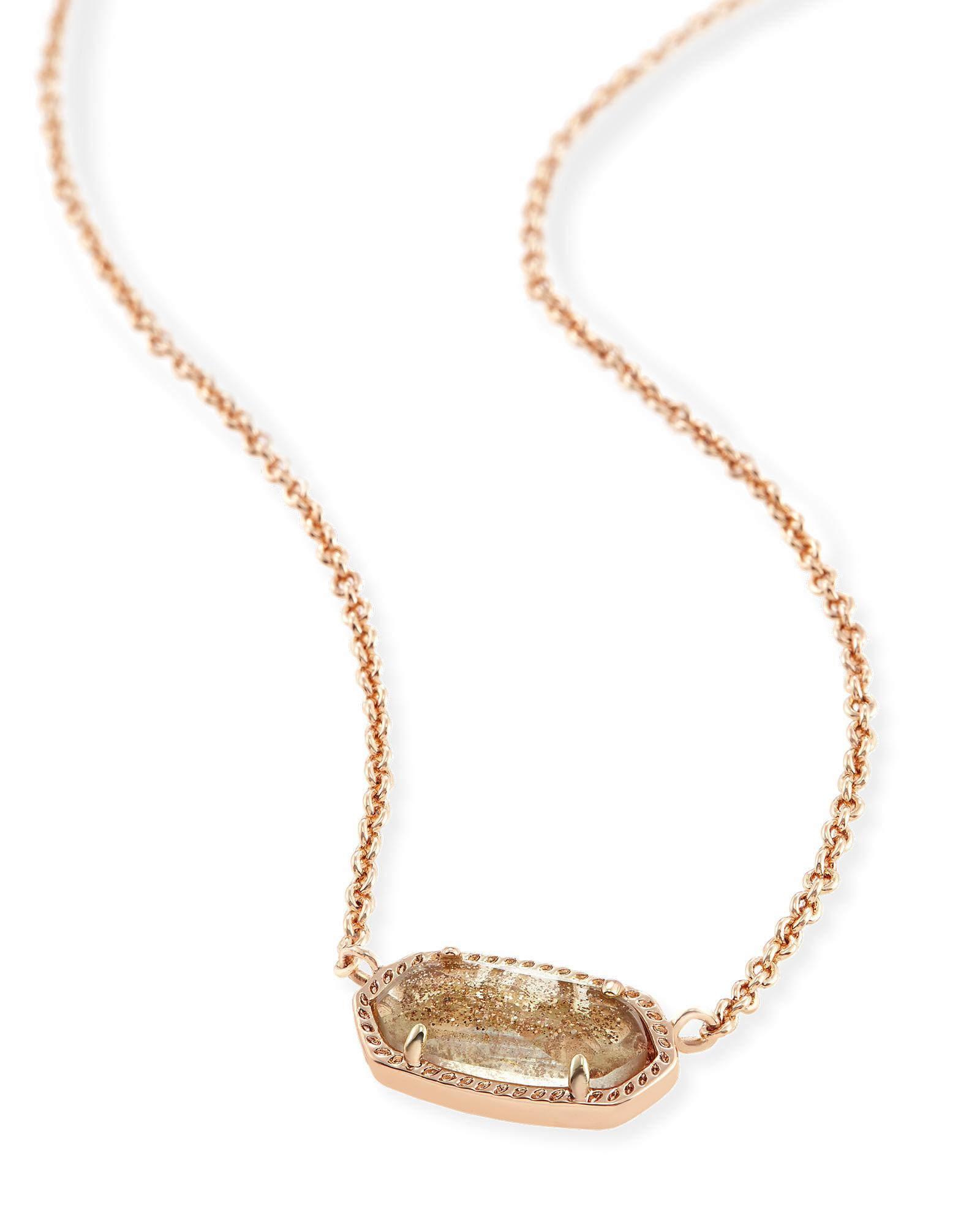 Elisa rose gold pendant necklace in gold dust kendra scott elisa pendant necklace in gold dusted glass aloadofball Choice Image