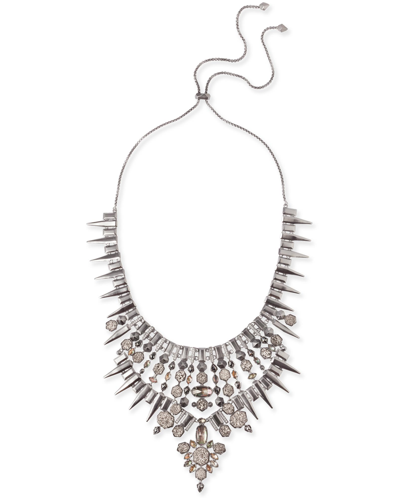 Seraphina Statement Necklace in Midnight