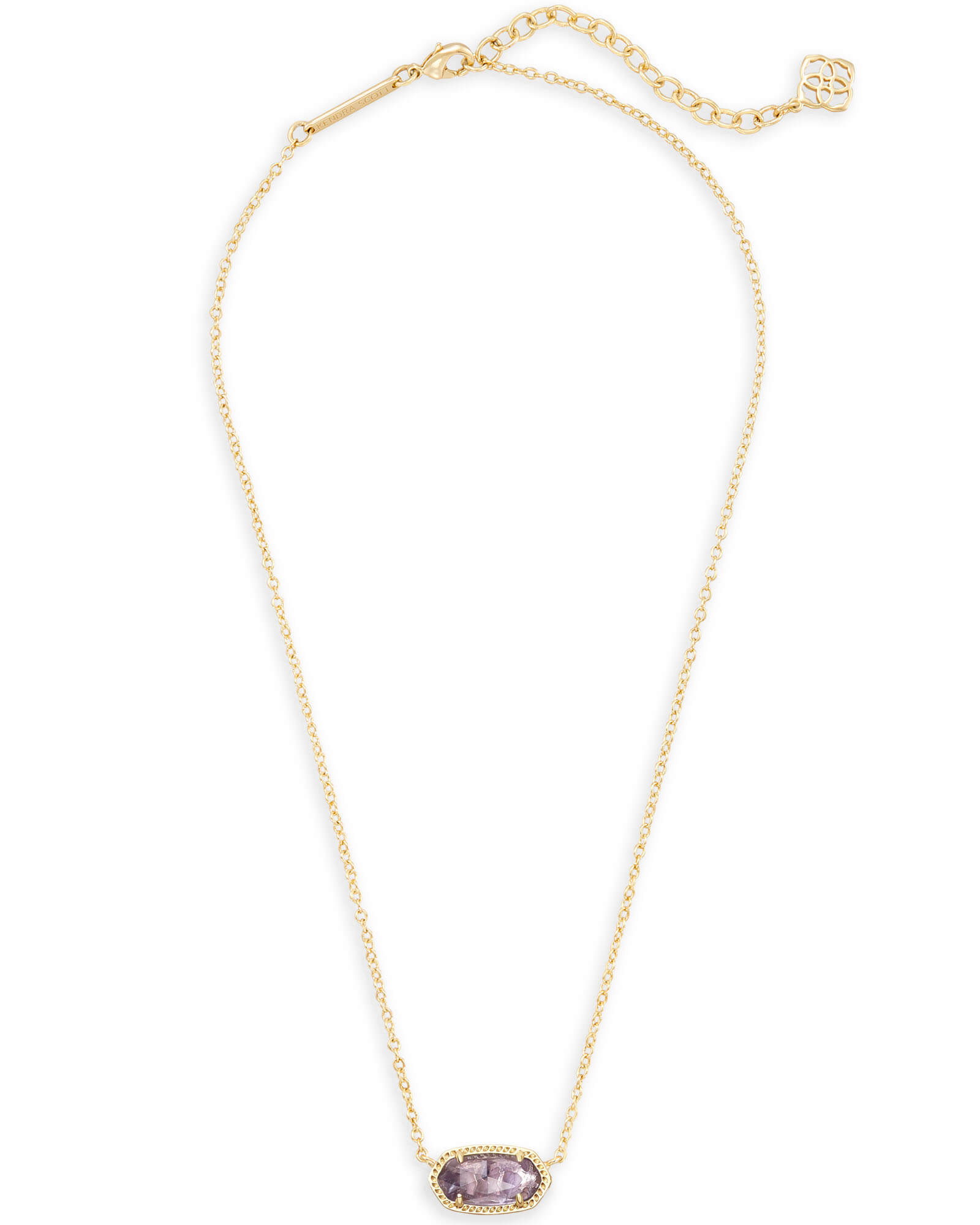 58808fd1c6fc89 Elisa Gold Pendant Necklace in Amethyst | Kendra Scott