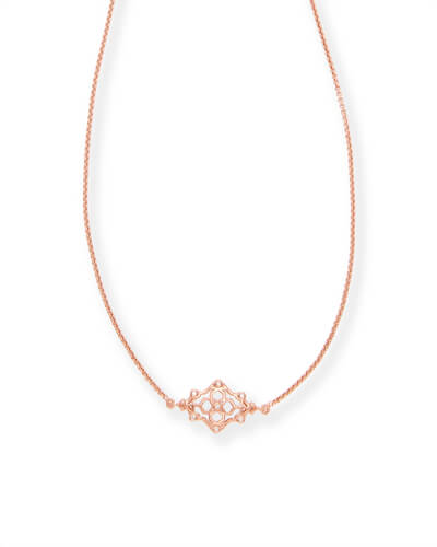 Riley Pendant Necklace in Rose Gold