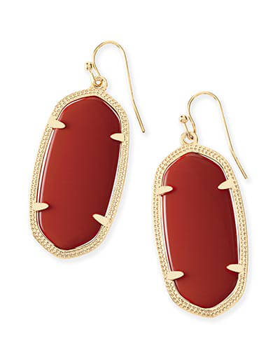 Elle Earrings in Dark Red