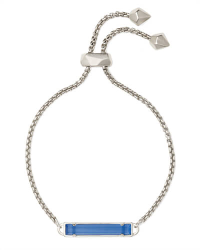 Stan Silver Chain Bracelet In Periwinkle Cats Eye