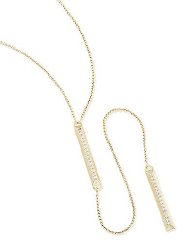 Shea Lariat Necklace in Gold