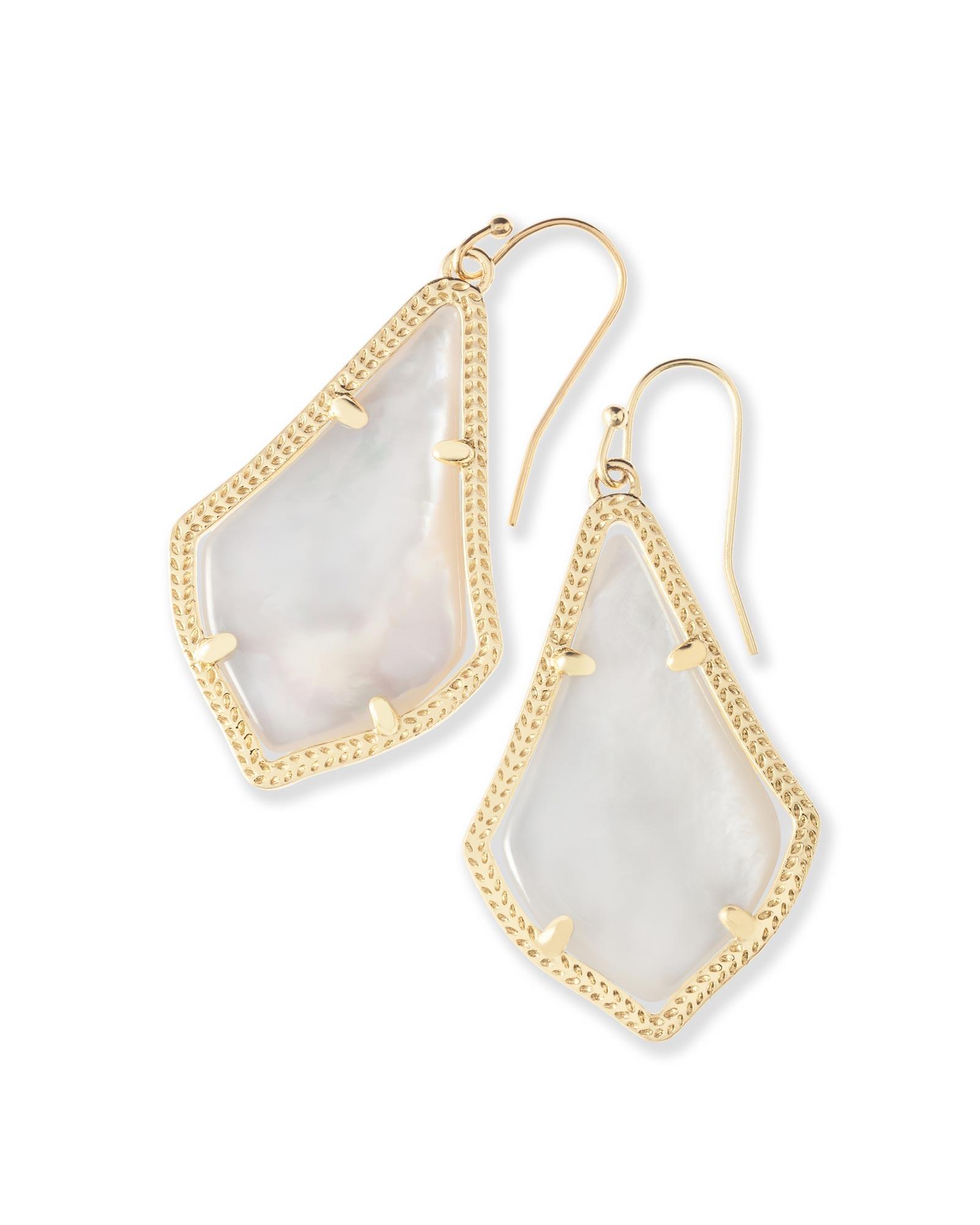 Alex gold drop earrings in ivory pearl kendra scott for Kendra scott fine jewelry