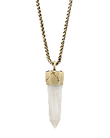 Jayce Long Necklace in White Banded Agate