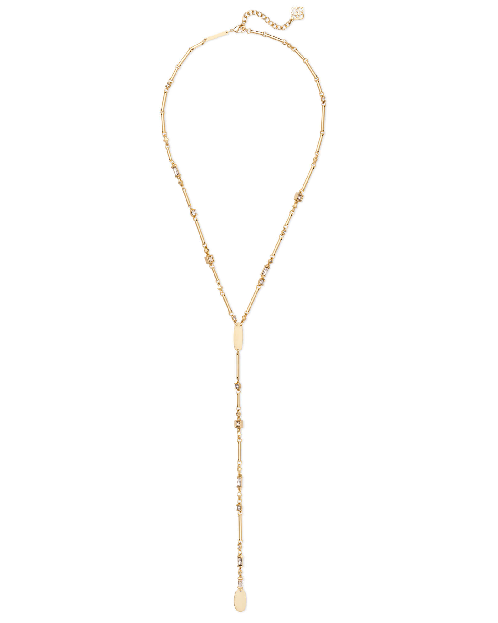 Crowley Gold Y Necklace in Smoky Mix
