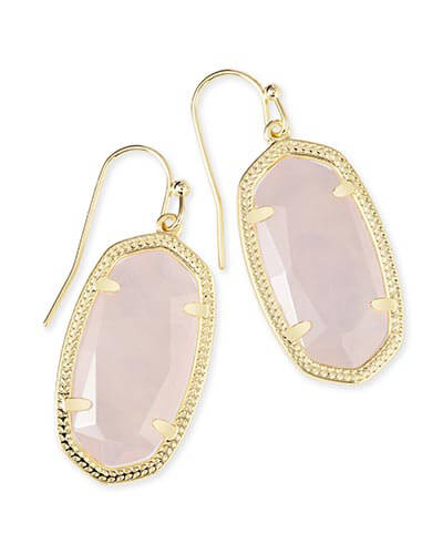 Dani Earrings in Rose Quartz