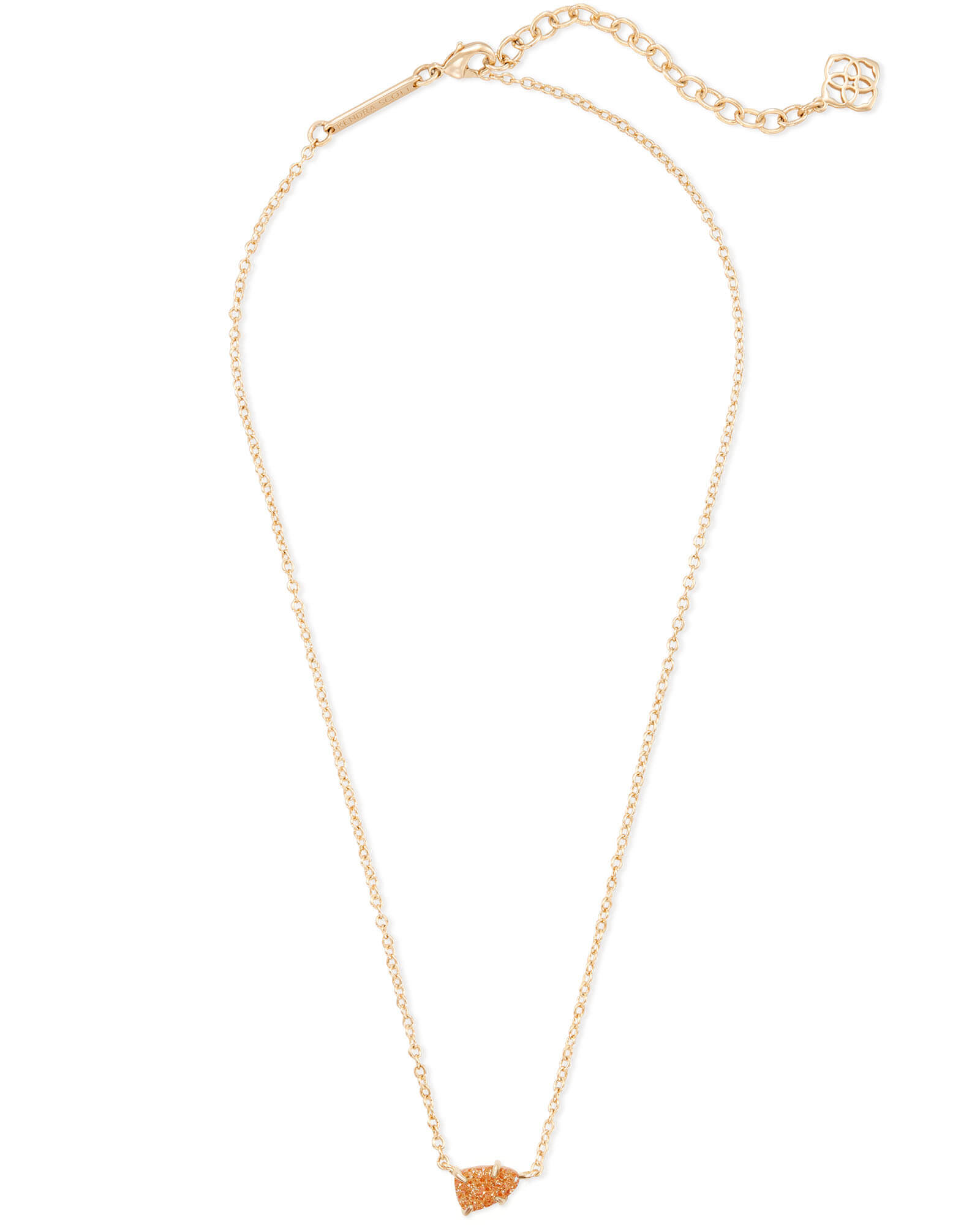 Helga Gold Pendant Necklace in Goldstone Drusy