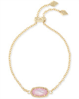 Elaina Adjustable Chain Bracelet in Blush Pearl