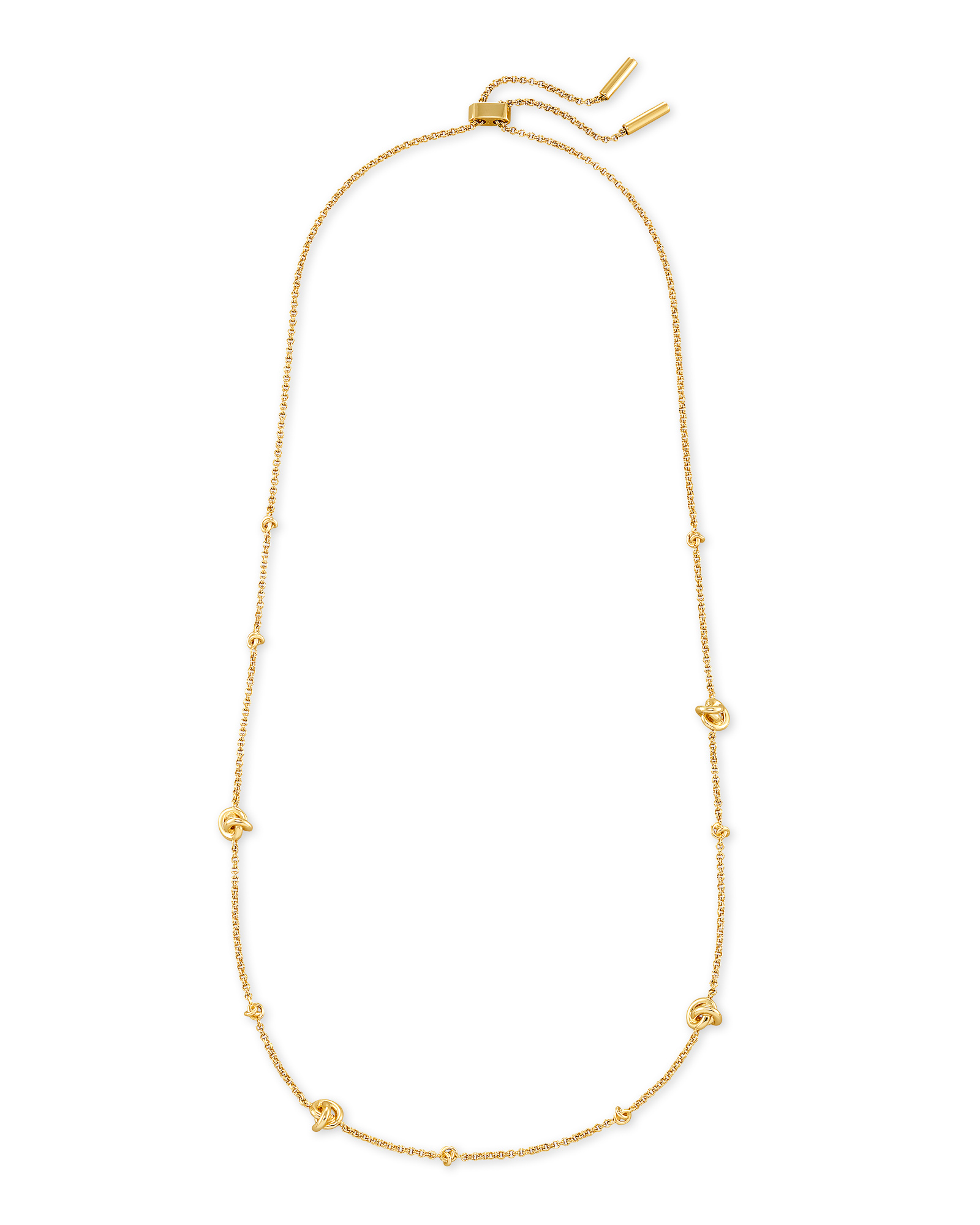 Presleigh Love Knot Adjustable Necklace in Gold