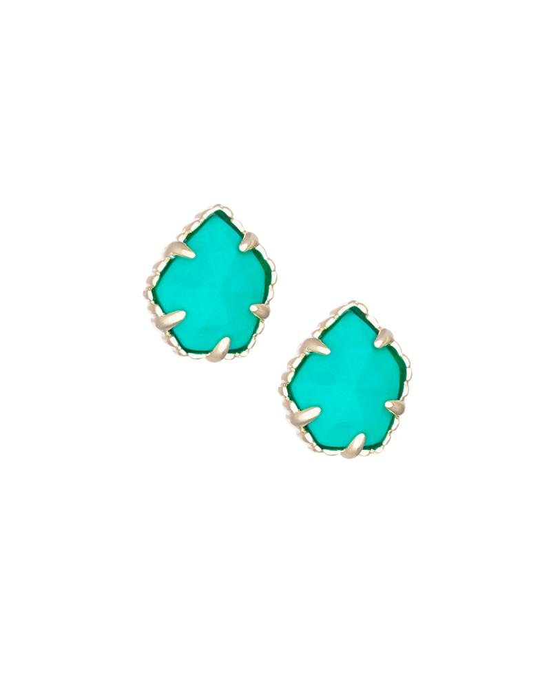Tessa Stud Earrings in Teal