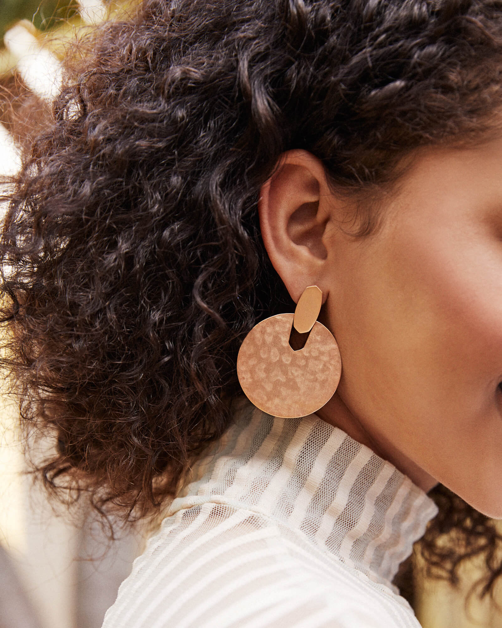 Didi Statement Earrings in Rose Gold