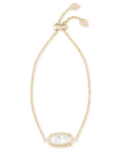 Elaina Adjustable Chain Bracelet in Ivory Pearl