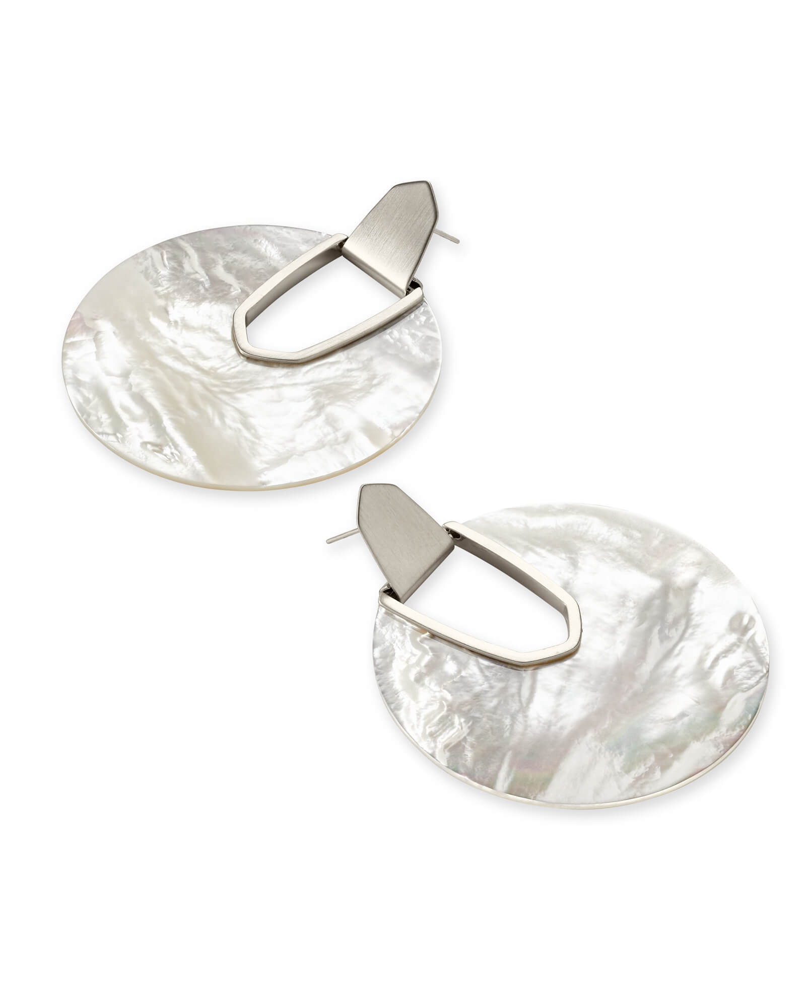 Diane Silver Statement Stone Earrings
