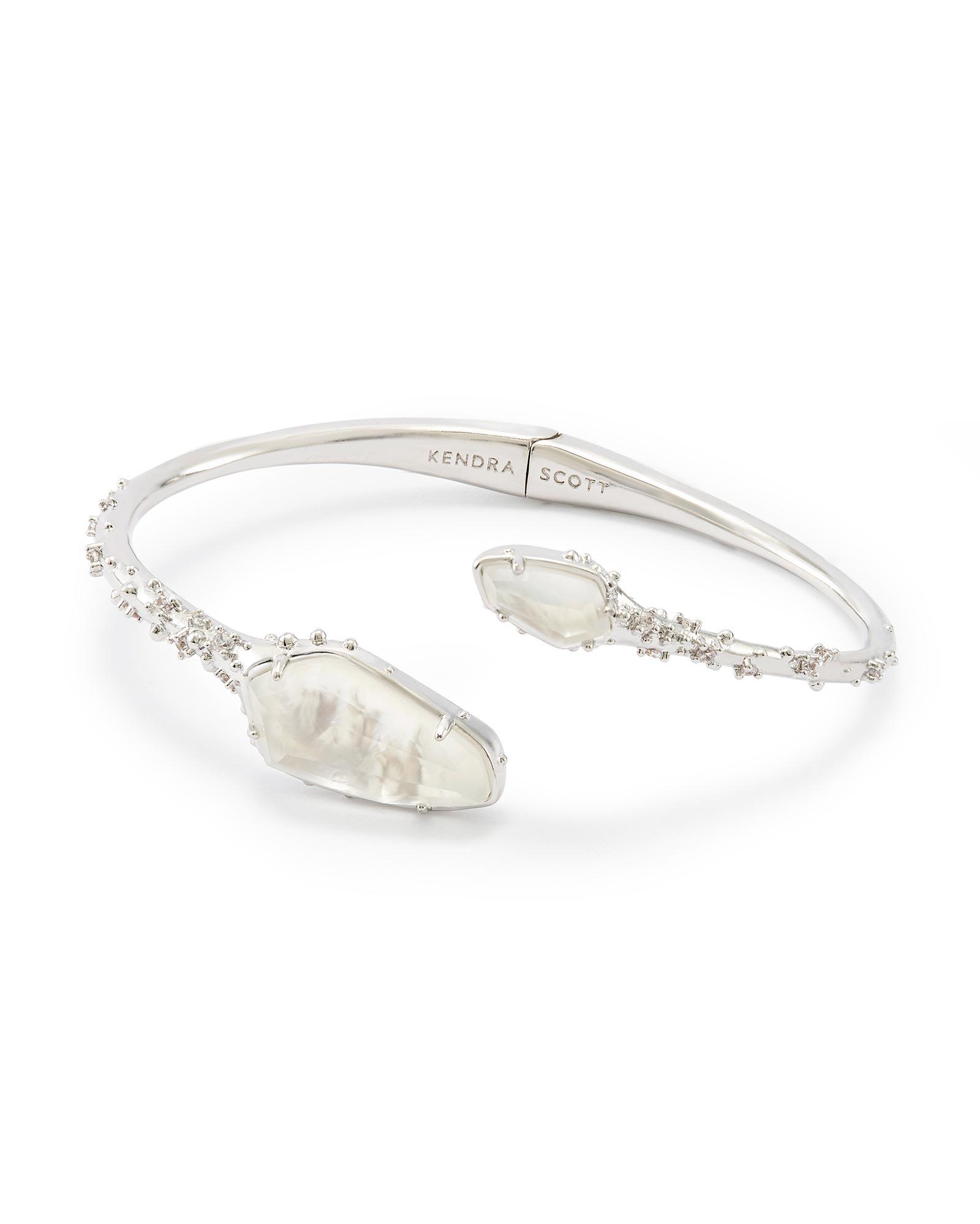 Zander Hinge Cuff Bracelet In Silver