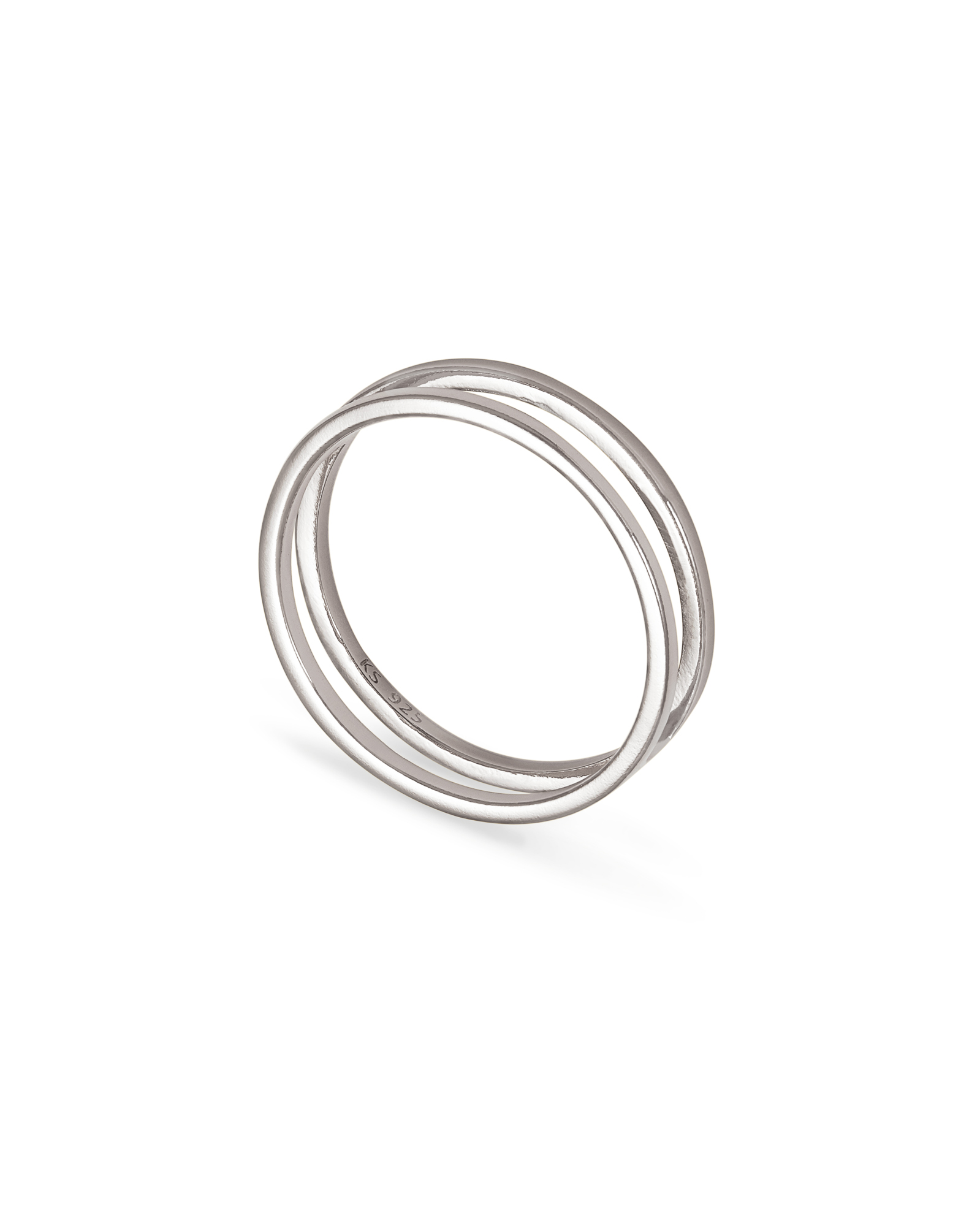 Bennett Double Ring in Sterling Silver