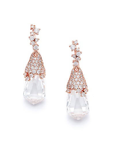 Becky Drop Earrings in Rose Gold