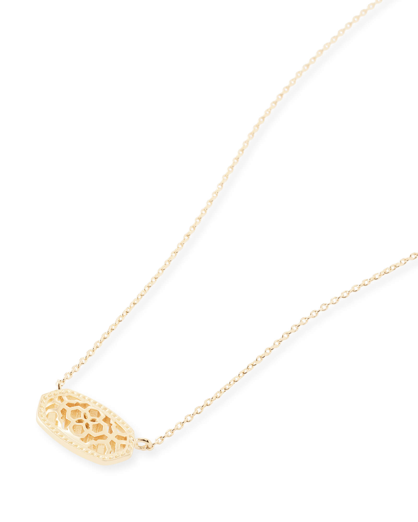 Elisa pendant necklace in gold filigree kendra scott elisa gold pendant necklace in gold filigree mozeypictures Gallery