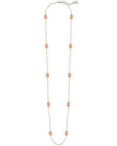 Kellie Long Necklace in Coral