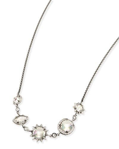 Janet Choker Necklace in Antique Silver
