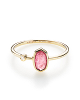 Chastain Ring in Pink Tourmaline and 14k Yellow Gold