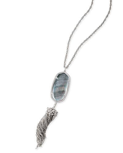 Rayne Necklace in Black Pearl