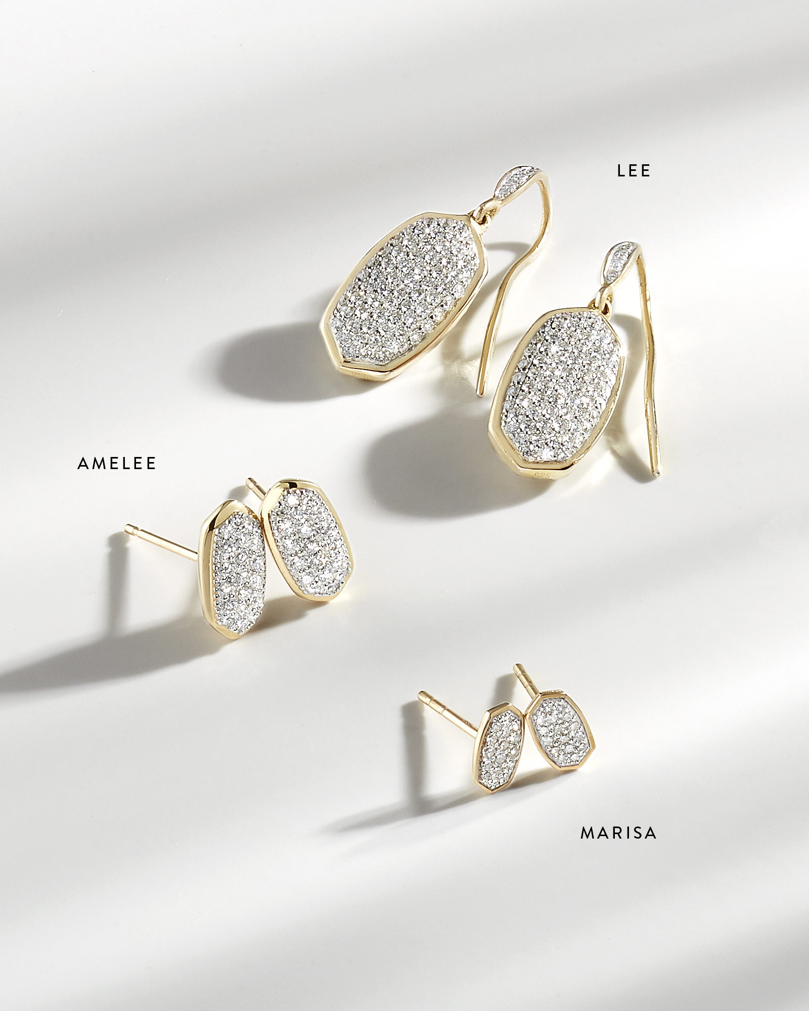 Amelee Pave Diamond Stud Earrings