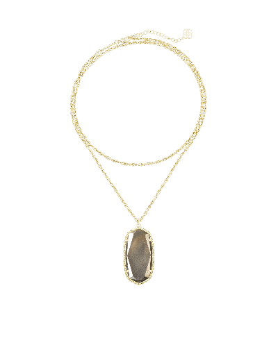 Rae Gold Necklace in Pyrite