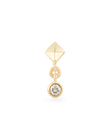 Zane Mini 14K Yellow Gold Stud Earring in White Diamond