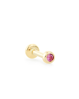 Reeve Mini 14K Yellow Gold Stud Earring in Pink Sapphire