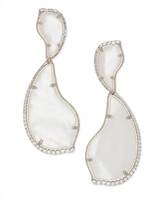 Teddi Silver Statement Earrings in Ivory Pearl