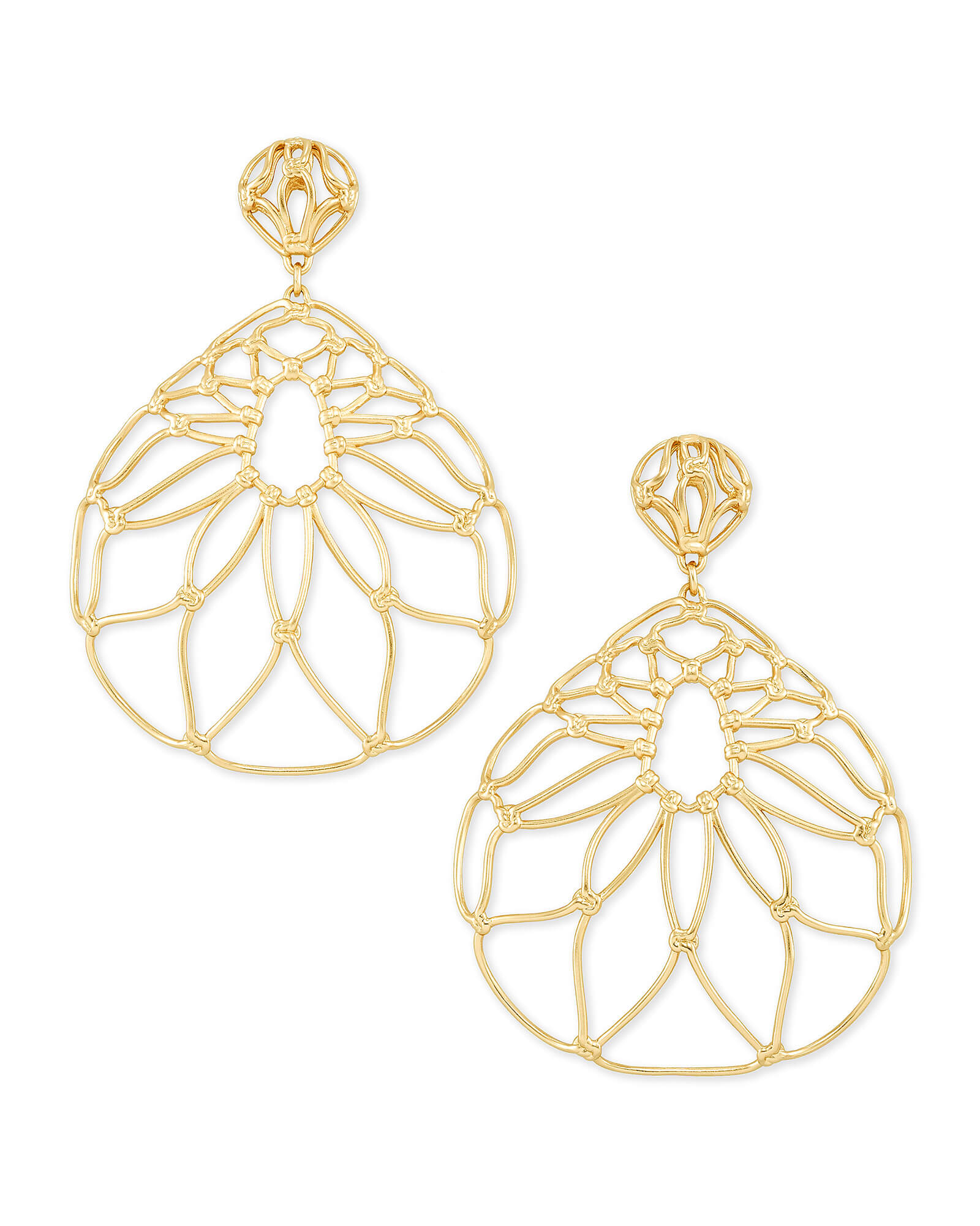 Hallie Statement Earrings In Gold