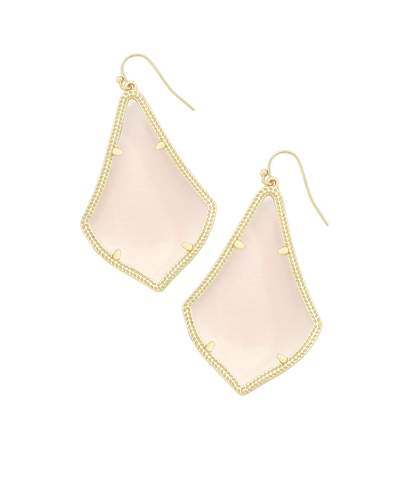 Alexandra Earrings in Peach