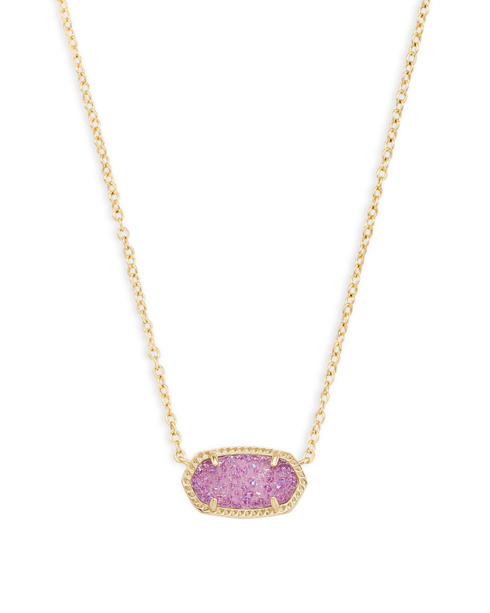 Elisa gold pendant necklace in violet drusy kendra scott elisa gold pendant necklace in violet drusy mozeypictures Choice Image