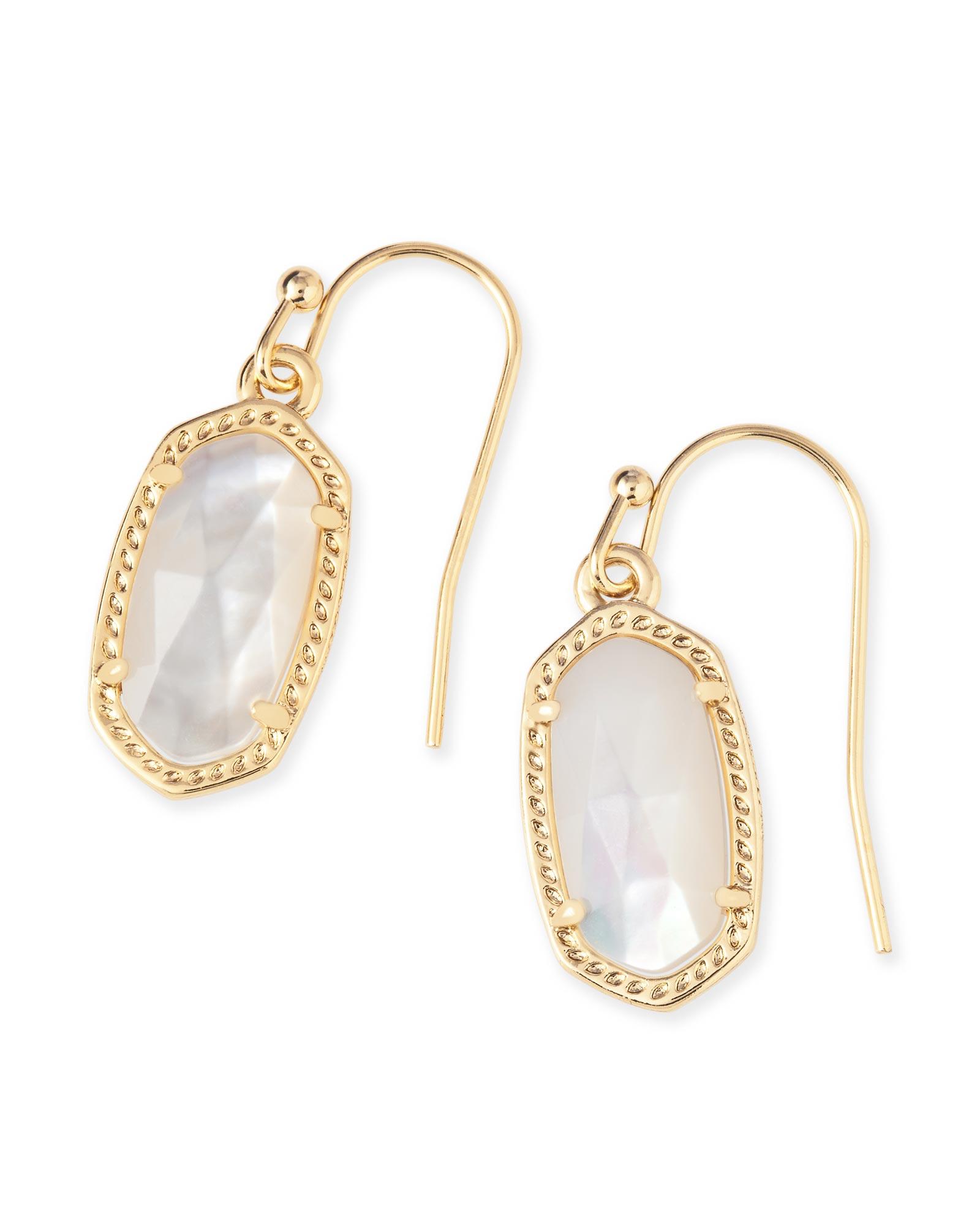 Lee gold oval drop earrings in ivory pearl kendra scott for Kendra scott fine jewelry